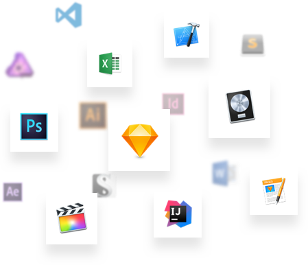 Supported apps icons